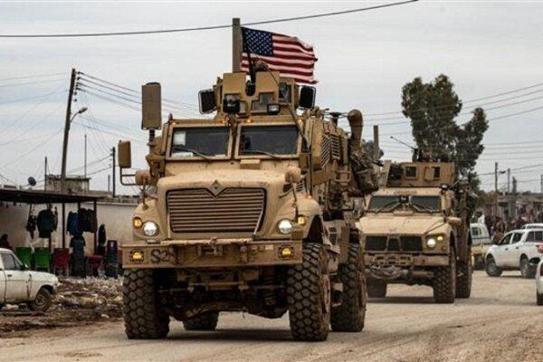 اعزام کاروان تسلیحاتی آمریکا به میدان نفتیالعمر در سوریه