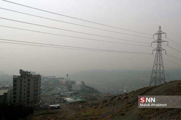 تداوم آلودگی هوا در تهران، بیشترین دمای هوای مرکز